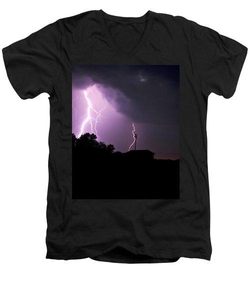 Electrifying Sky  Men's V-Neck T-Shirt