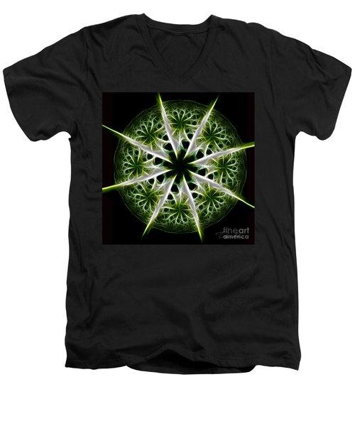 Emerald Tales Men's V-Neck T-Shirt by Danuta Bennett