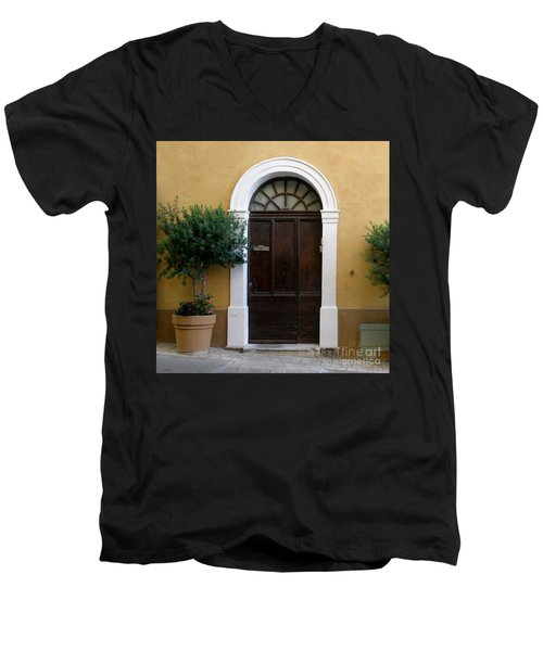 Enchanting Door Men's V-Neck T-Shirt by Lainie Wrightson