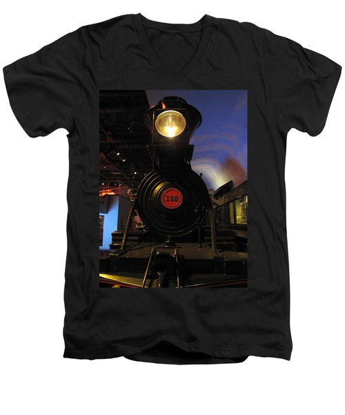 Engine No. 132 Men's V-Neck T-Shirt by Keith Stokes