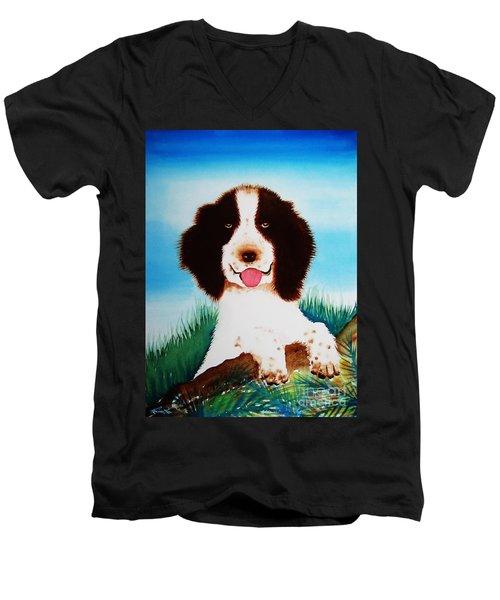 English Springer Spaniel Men's V-Neck T-Shirt