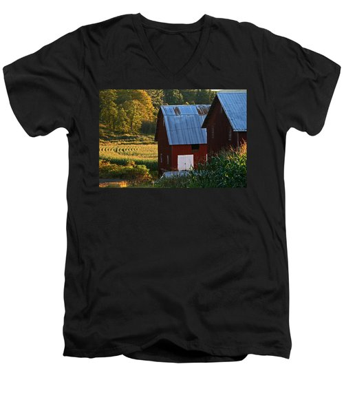 Fall Barns Men's V-Neck T-Shirt