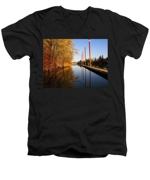 Fall Pier Men's V-Neck T-Shirt