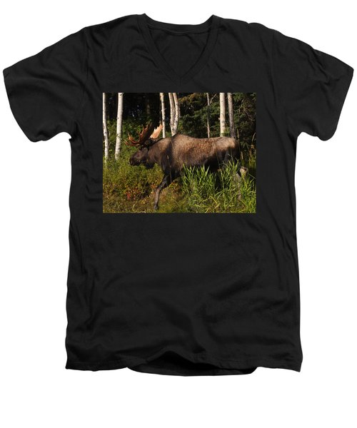 Men's V-Neck T-Shirt featuring the photograph Fast Mover by Doug Lloyd