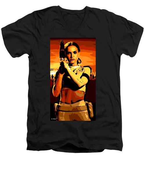 Female Warrior Men's V-Neck T-Shirt
