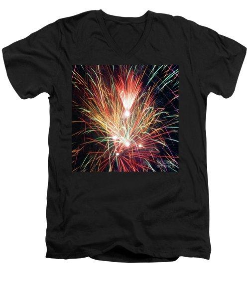 Fireworks One Men's V-Neck T-Shirt