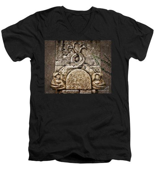 Fish Astrology Men's V-Neck T-Shirt by Danuta Bennett