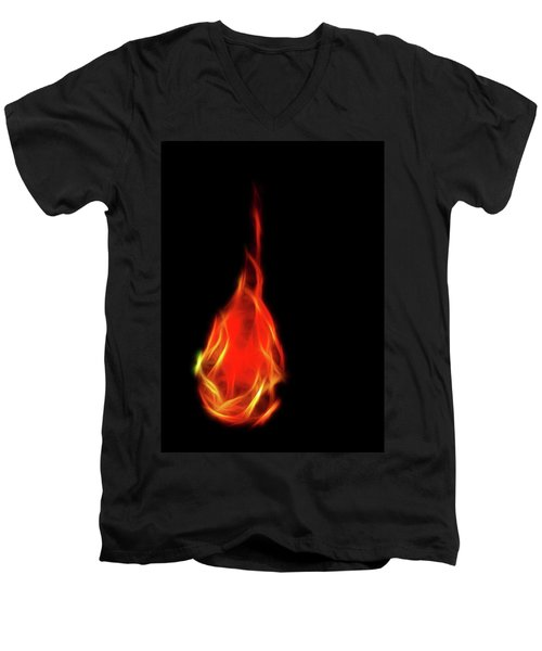 Flaming Tear Men's V-Neck T-Shirt