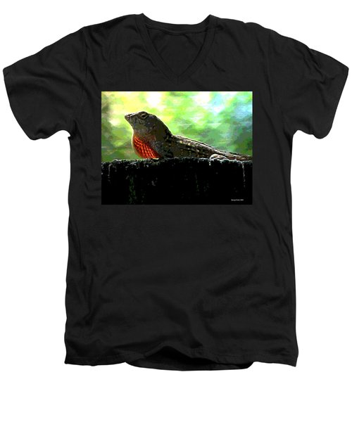Men's V-Neck T-Shirt featuring the photograph Florida Dinosaur by George Pedro