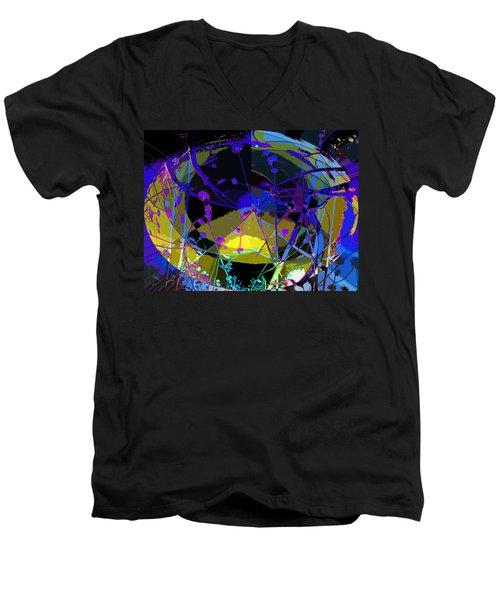Flower Abstract Men's V-Neck T-Shirt by Anne Mott