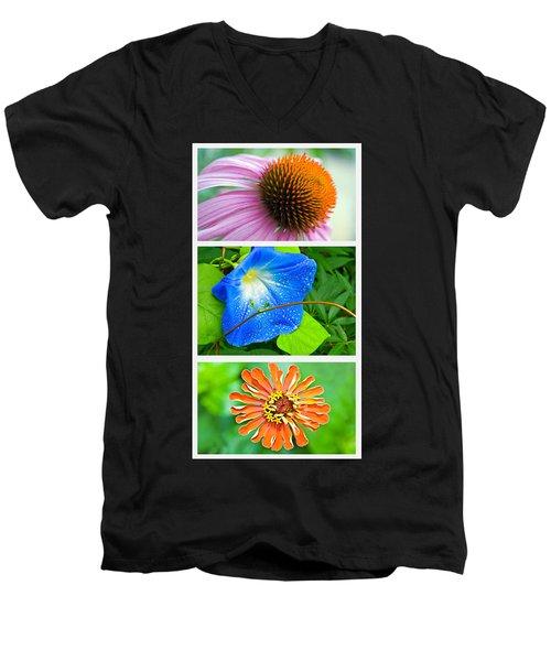Flower Collage Part Two Men's V-Neck T-Shirt
