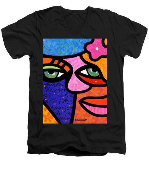 Flowers In Her Hair Men's V-Neck T-Shirt
