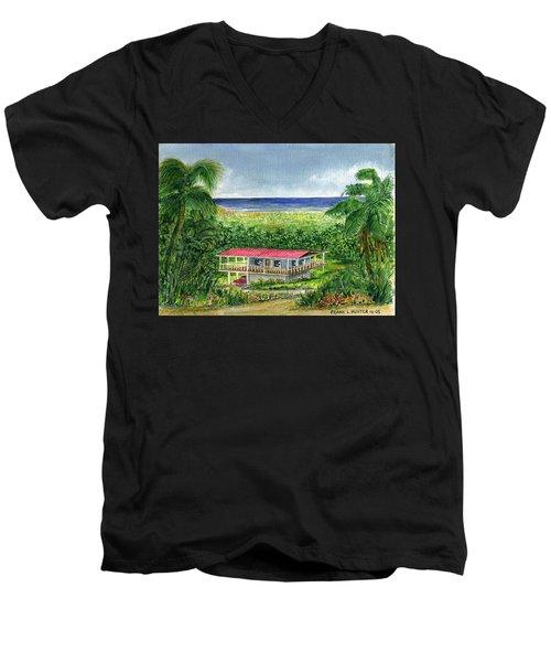 Foothills Of El Yunque Puerto Rico Men's V-Neck T-Shirt