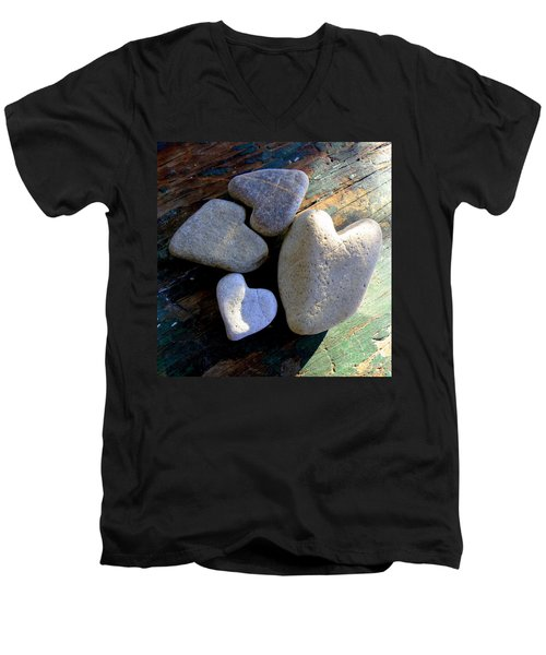 Four Stone Hearts Men's V-Neck T-Shirt