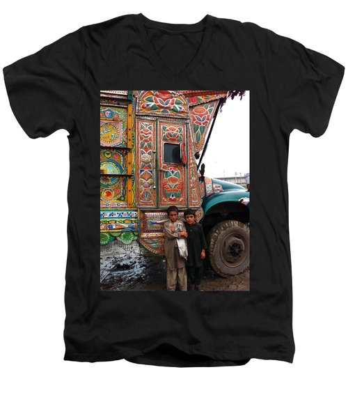 Friends - Take Me For A Ride In Your Jingly Truck Men's V-Neck T-Shirt