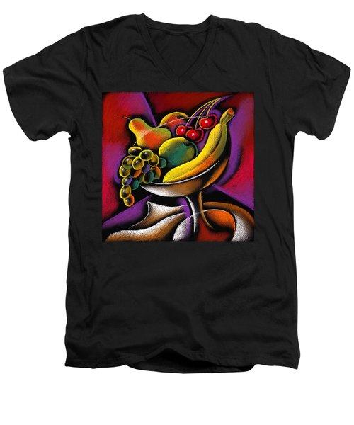 Fruits Men's V-Neck T-Shirt by Leon Zernitsky