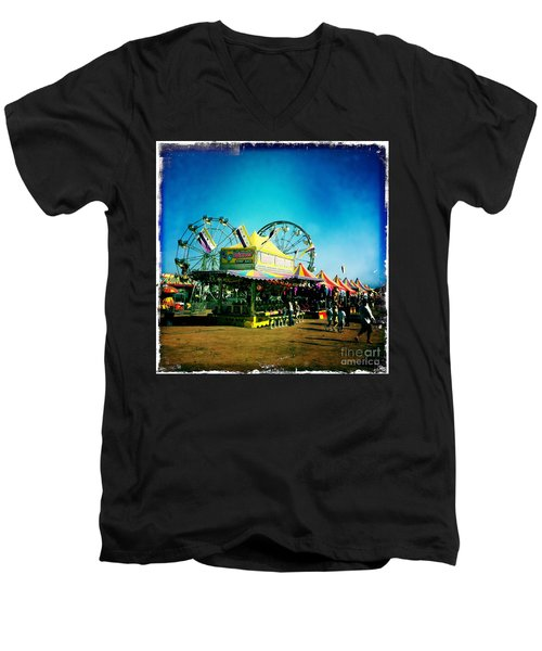 Men's V-Neck T-Shirt featuring the photograph Fun At The Fair by Nina Prommer