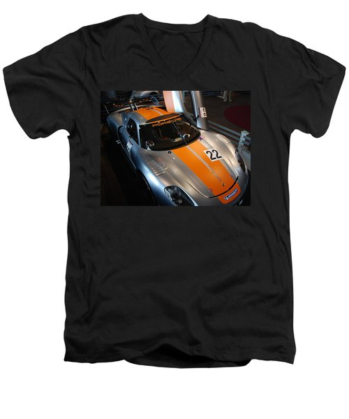 Men's V-Neck T-Shirt featuring the photograph Gas Miser by John Schneider