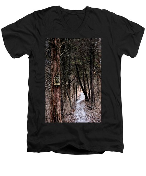 Gently Into The Forest My Friend Men's V-Neck T-Shirt