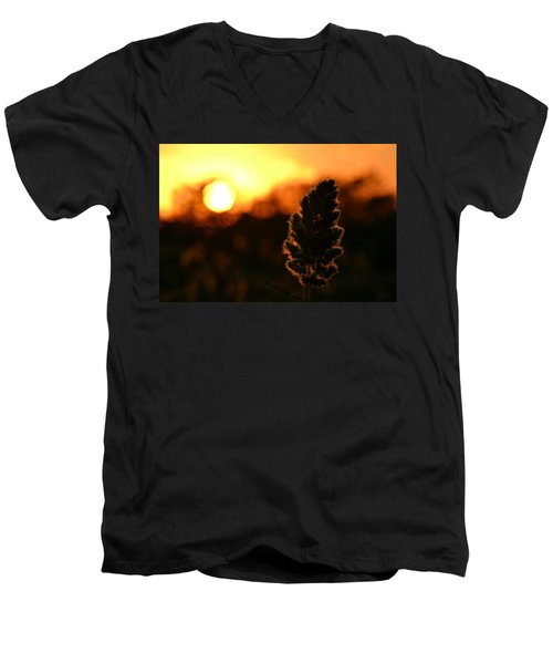 Glowing Leaf Men's V-Neck T-Shirt