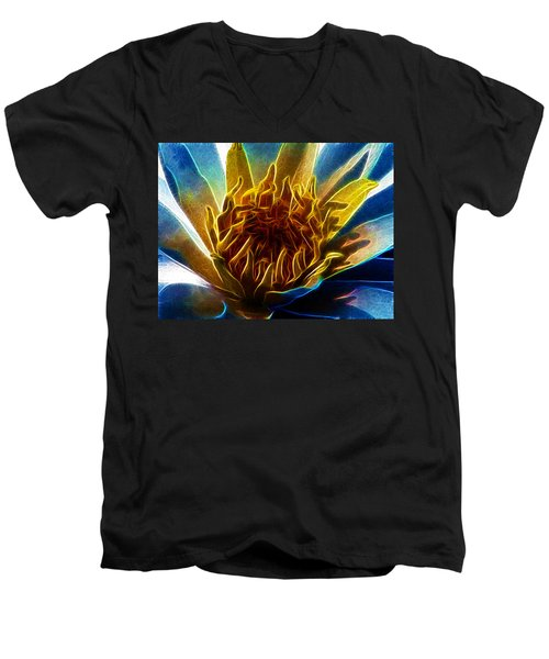Glowing Lotus Men's V-Neck T-Shirt