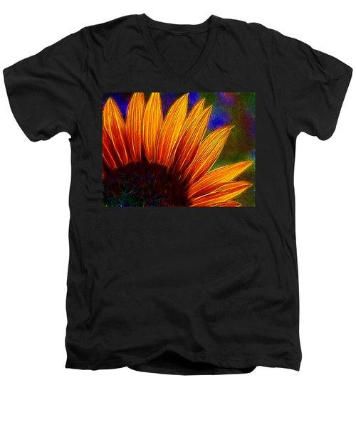 Glowing Sunflower Men's V-Neck T-Shirt