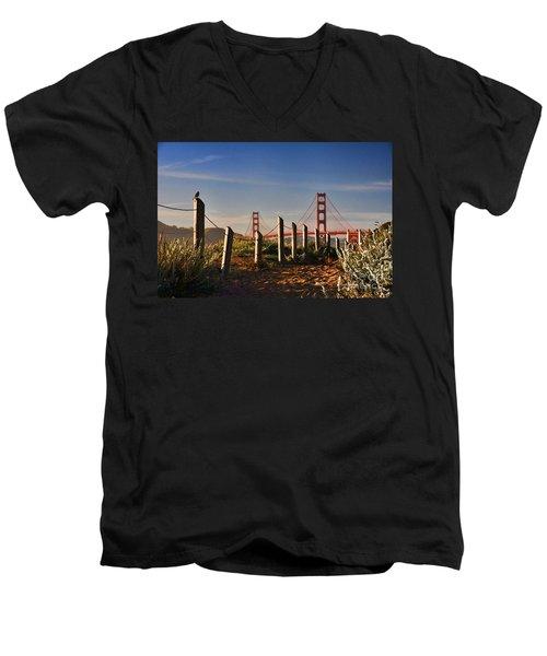Golden Gate Bridge - 2 Men's V-Neck T-Shirt