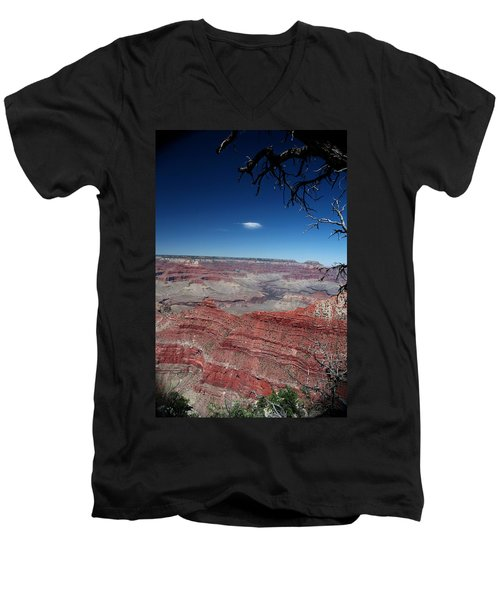 Men's V-Neck T-Shirt featuring the photograph Grand Canyon Number Three by Lon Casler Bixby