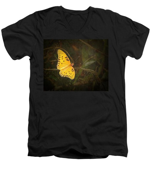 Gulf Fritillary Butterfly Men's V-Neck T-Shirt