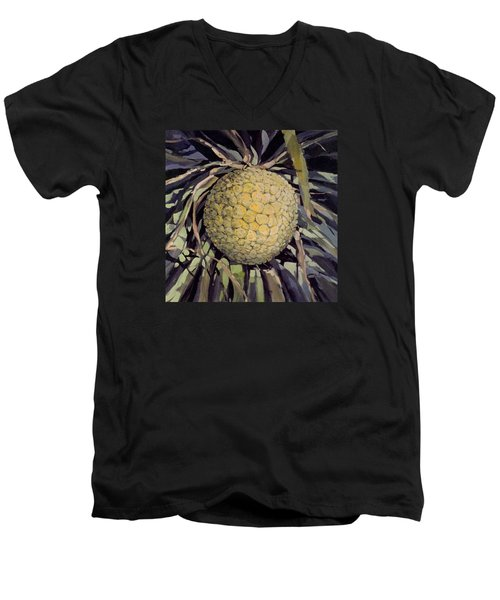 Men's V-Neck T-Shirt featuring the painting Hala Fruit by Andrew Drozdowicz