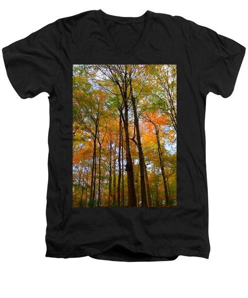 Happy Orange Men's V-Neck T-Shirt