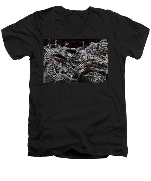 Harley Davidson Style 3 Men's V-Neck T-Shirt