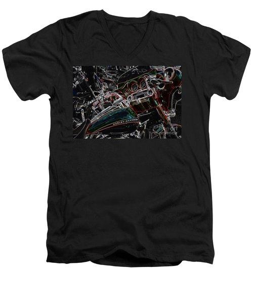 Harley Davidson Style 4 Men's V-Neck T-Shirt