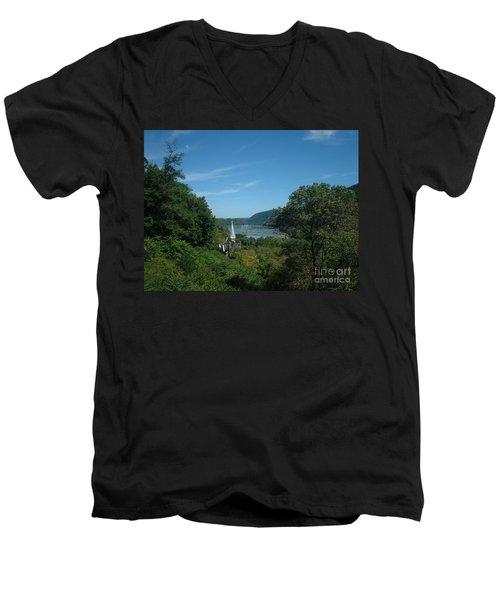 Harper's Ferry Long View Men's V-Neck T-Shirt