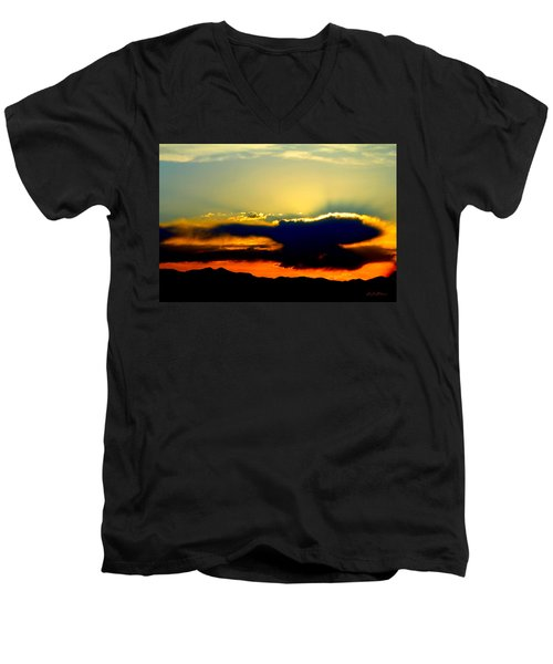 Heaven Is Watching Men's V-Neck T-Shirt by Jeanette C Landstrom