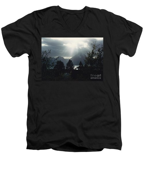 Heavenly Rays Men's V-Neck T-Shirt