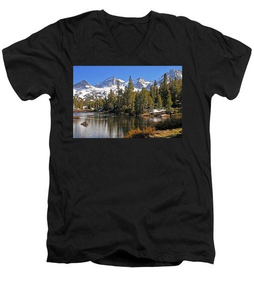 Hidden Jewel Men's V-Neck T-Shirt by Lynn Bauer