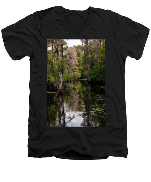 Hillsborough River In March Men's V-Neck T-Shirt