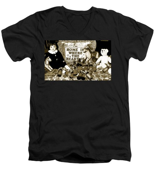 Men's V-Neck T-Shirt featuring the photograph Home Americana Style by Pamela Hyde Wilson