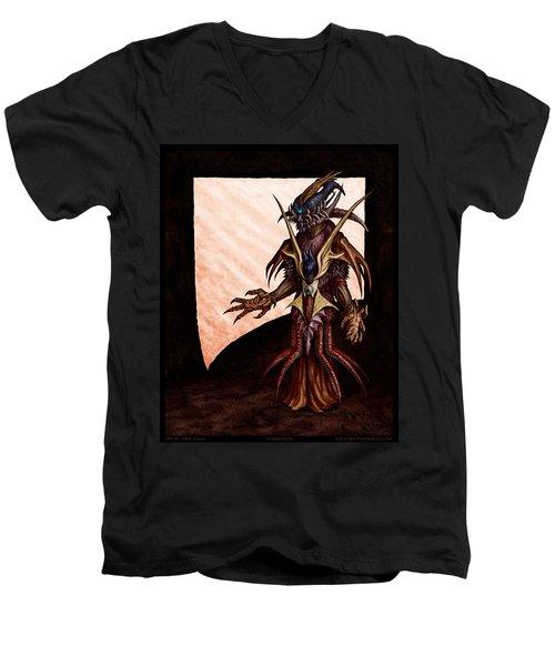 Hornedhead Men's V-Neck T-Shirt by Tony Koehl