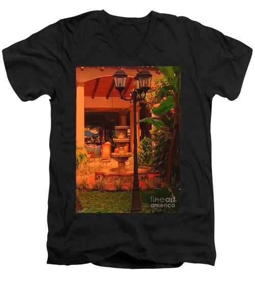 Men's V-Neck T-Shirt featuring the photograph Hotel Alhambra by Lydia Holly