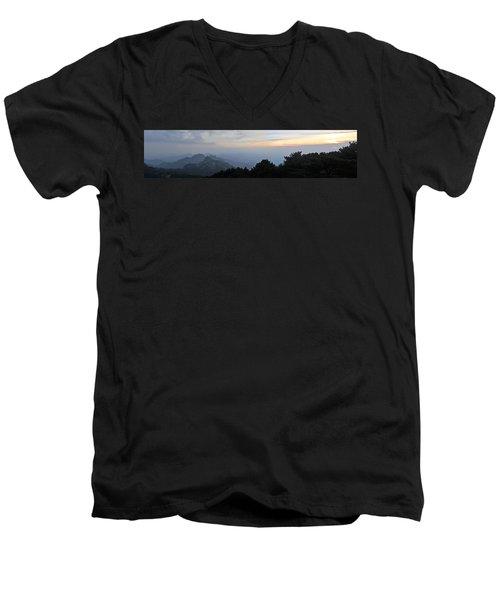 Huangshan Panorama 6 Men's V-Neck T-Shirt