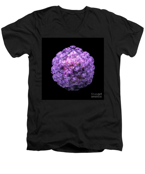 Men's V-Neck T-Shirt featuring the digital art Human Papilloma Virus  10 by Russell Kightley