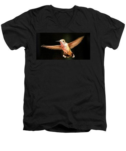 Men's V-Neck T-Shirt featuring the photograph Hummingbird  by Albert Seger