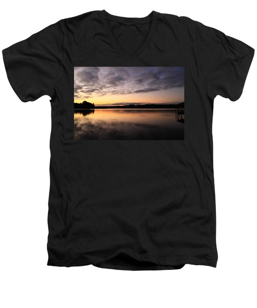 Hungry Fish At Sunrise Men's V-Neck T-Shirt