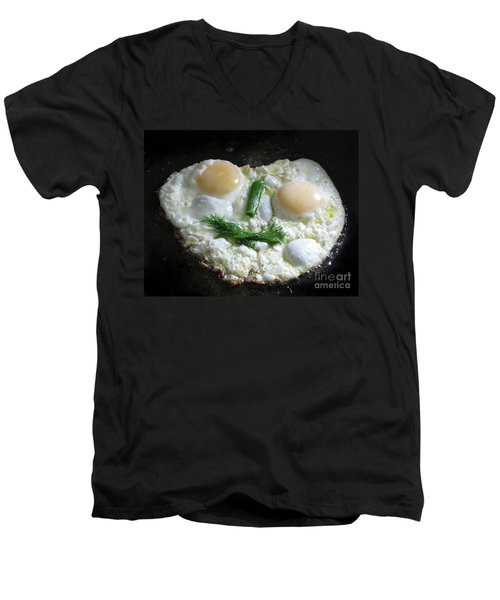 I Like To Cook Differently. Morning Creation. Men's V-Neck T-Shirt