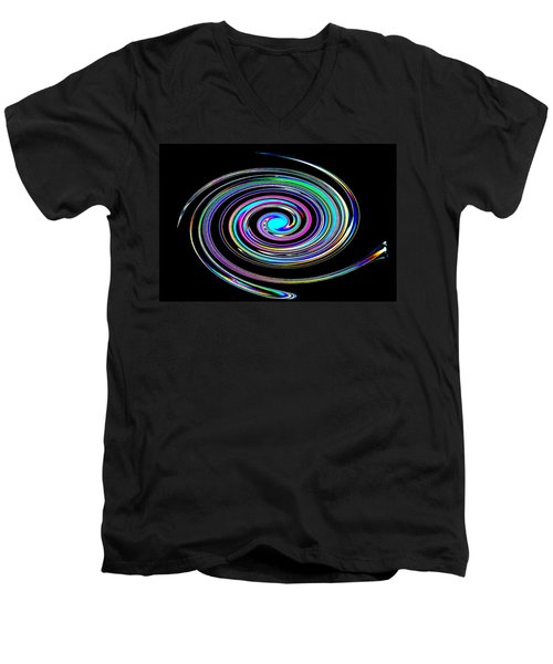 Men's V-Neck T-Shirt featuring the photograph In A Whirl by Steve Purnell