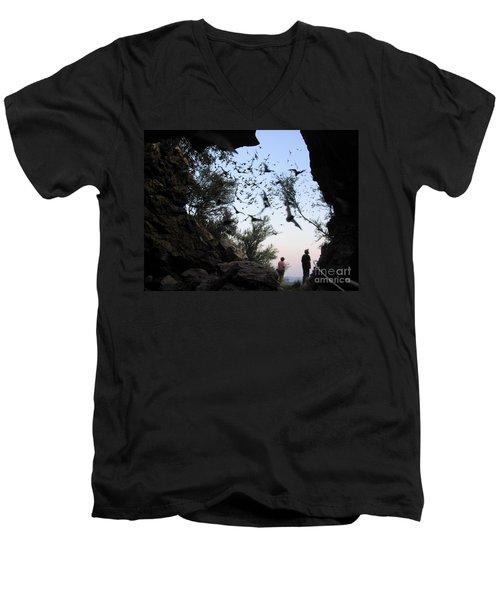 Inside The Bat Cave Men's V-Neck T-Shirt
