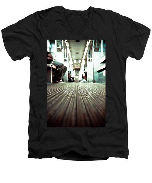 Inside The L At A Low Angle Men's V-Neck T-Shirt
