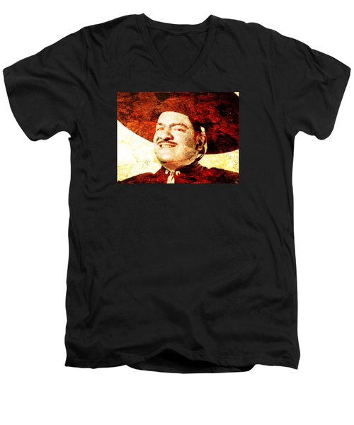 Jose Alfredo Jimenez Men's V-Neck T-Shirt by J- J- Espinoza